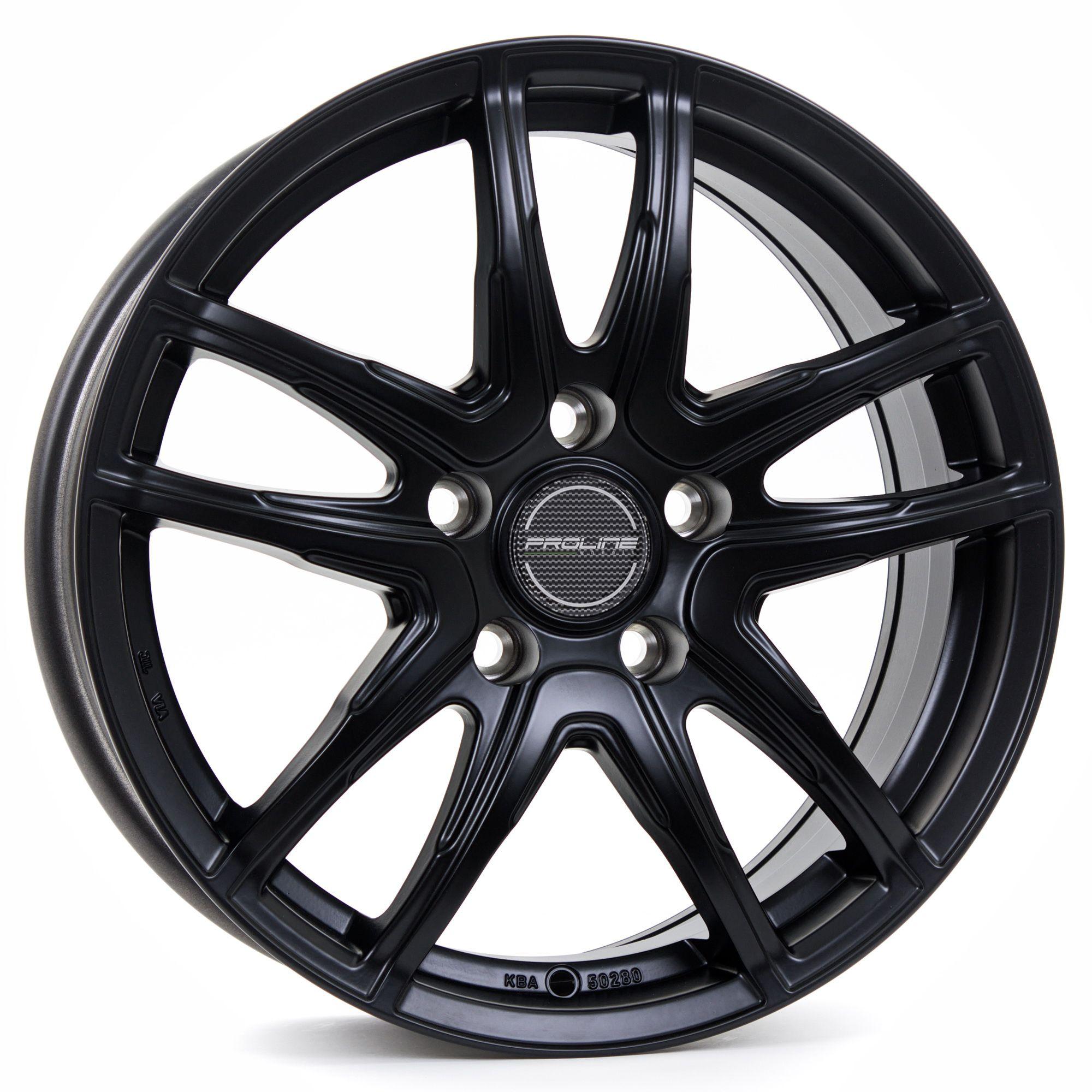 proline wheels vx100 felgen black matt schwarz in 16 zoll. Black Bedroom Furniture Sets. Home Design Ideas