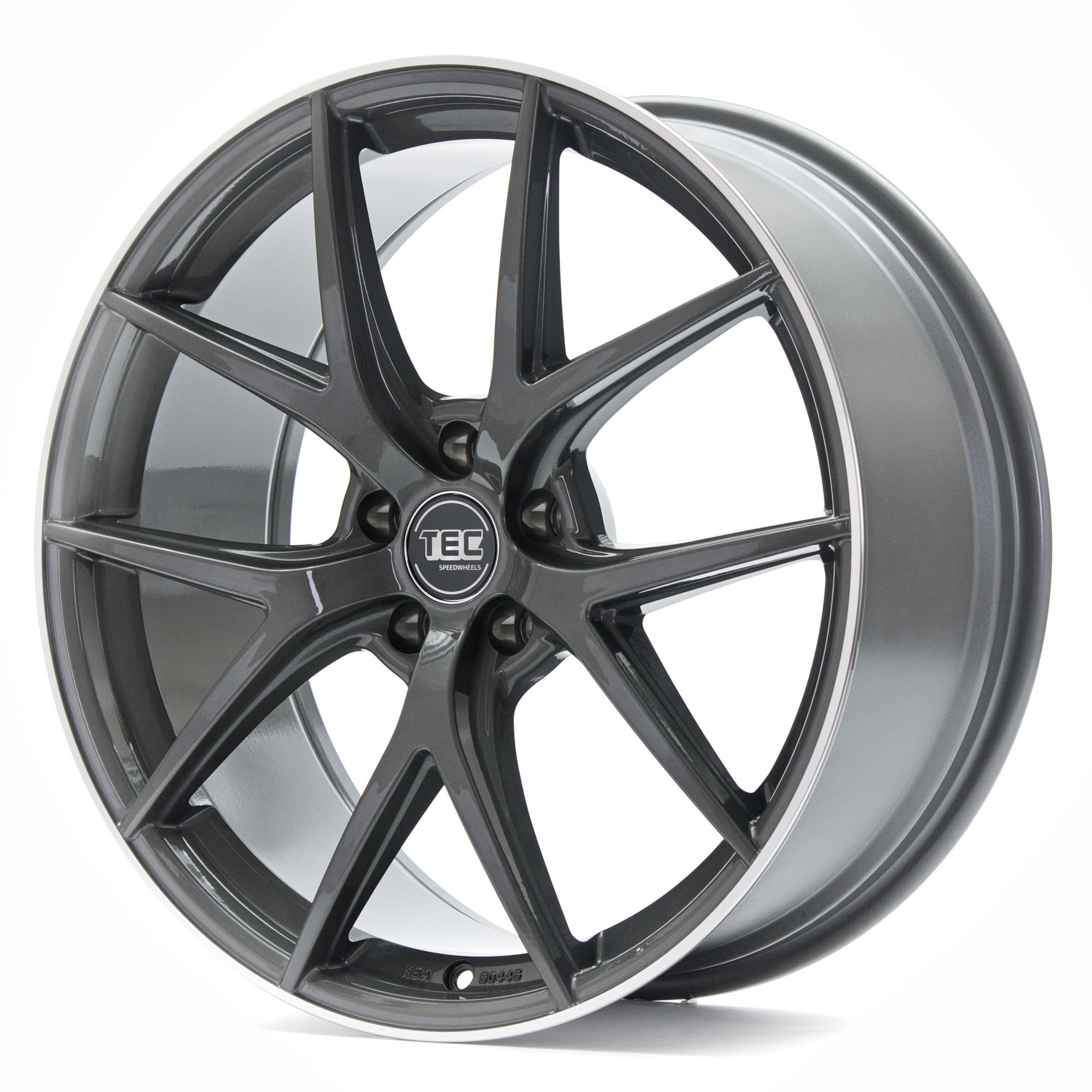 tec speedwheels gt6 felgen dark grey polished lip grau silber in 19 zoll. Black Bedroom Furniture Sets. Home Design Ideas
