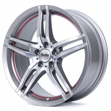 ADVANTI Starline Graphite matt polished red line