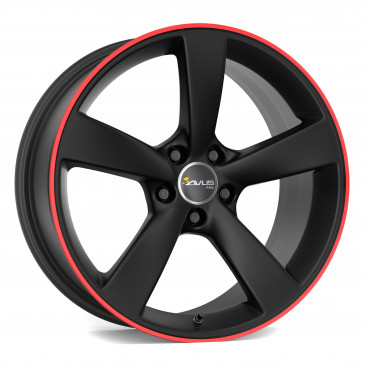 AVUS Racing AF10 Matt Black Red Line