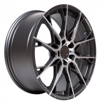 B52-Wheels X1 Storm grey matt full machined