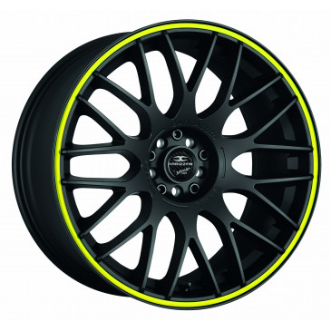 BARRACUDA Karizzma Mattblack Puresports / Color Trim gelb