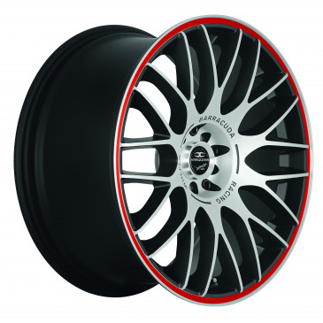 BARRACUDA Karizzma+Trackspacer Mattblack-polished / Color Trim rot
