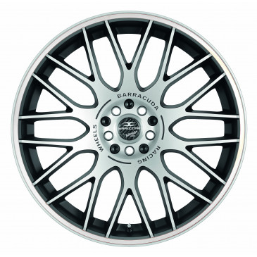 BARRACUDA Karizzma+Trackspacer Mattblack-polished / Color Trim weiss