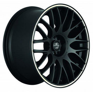 BARRACUDA Karizzma+Trackspacer Mattblack Puresports / Color Trim weiss