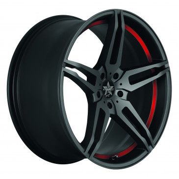 BARRACUDA Starzz+Trackspacer Mattblack-polished / undercut Color Trim rot