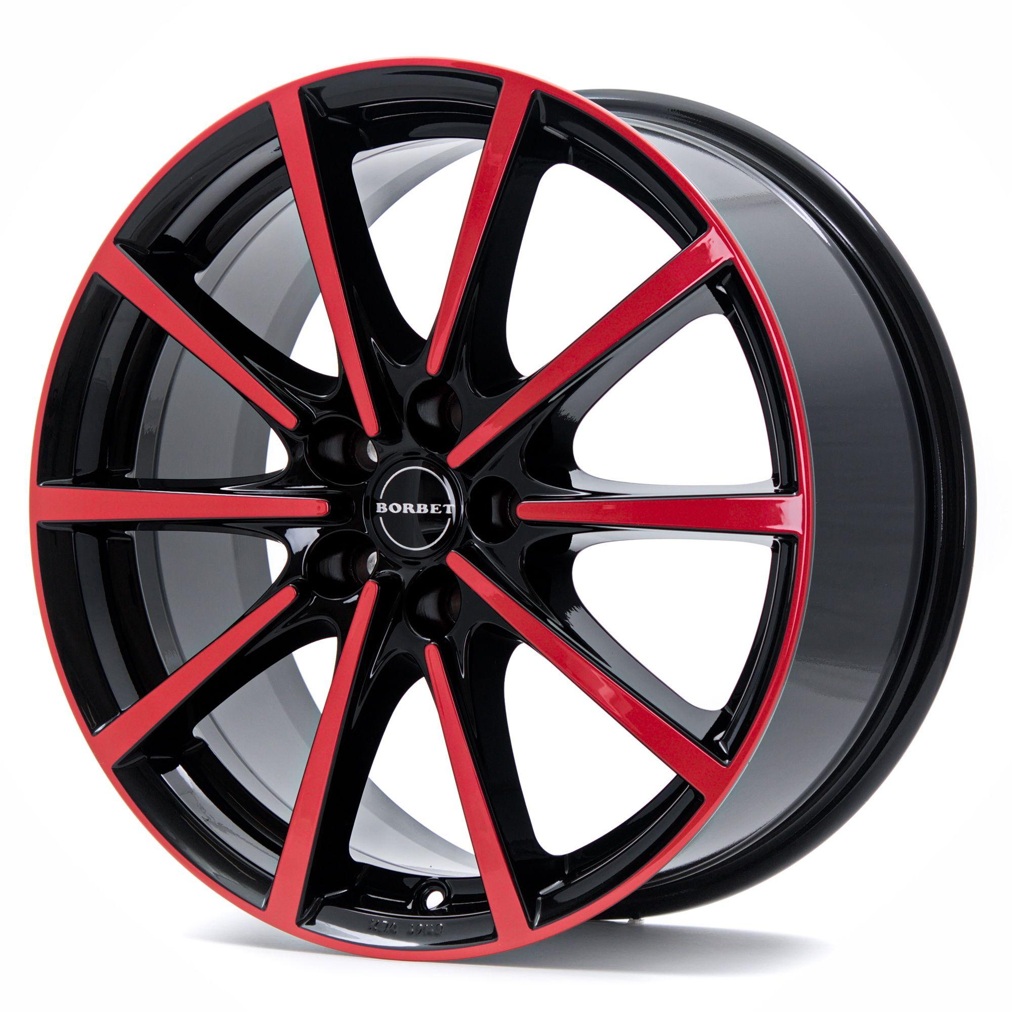 borbet bl5 felgen black red glossy in 18 zoll. Black Bedroom Furniture Sets. Home Design Ideas