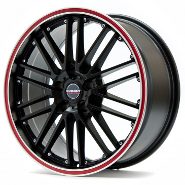 Borbet CW 2 black red line