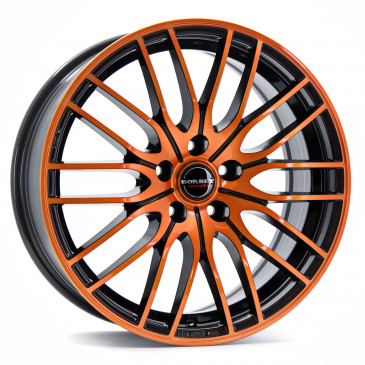 Borbet CW4 black orange glossy
