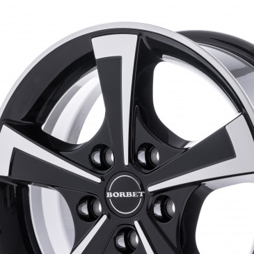 Borbet CWT black polished glossy