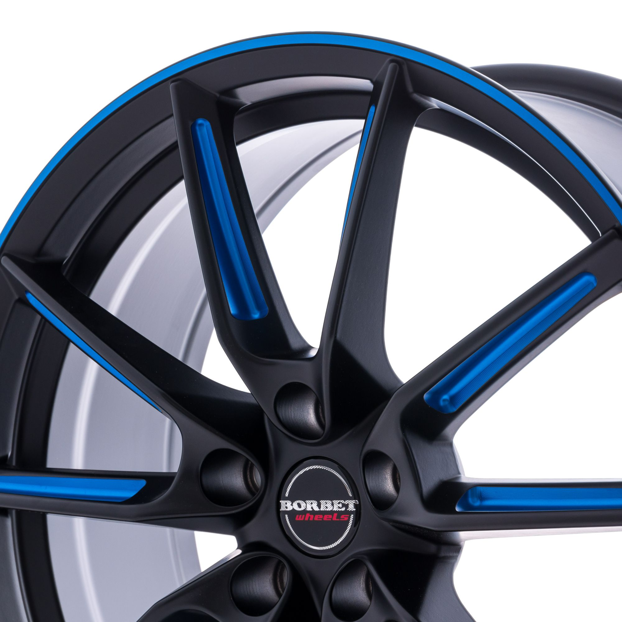 borbet lx felgen black matt spoke rim blue polished schwarz blau mehrfarbig in 19 zoll. Black Bedroom Furniture Sets. Home Design Ideas