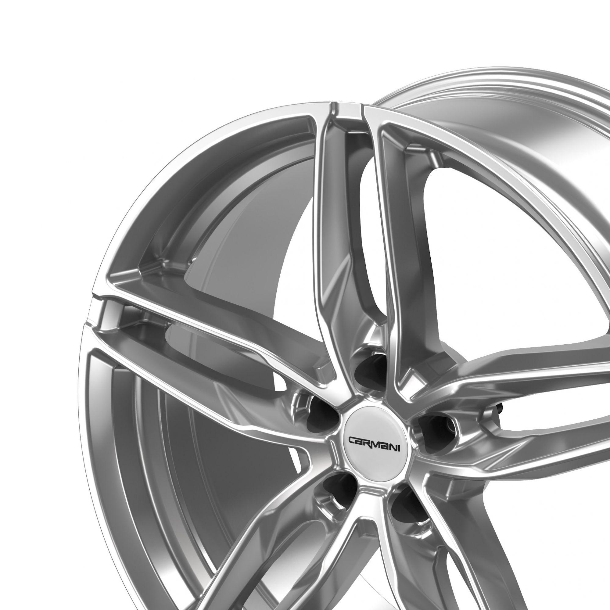 carmani 13 twinmax felgen bright silver silber in 19. Black Bedroom Furniture Sets. Home Design Ideas