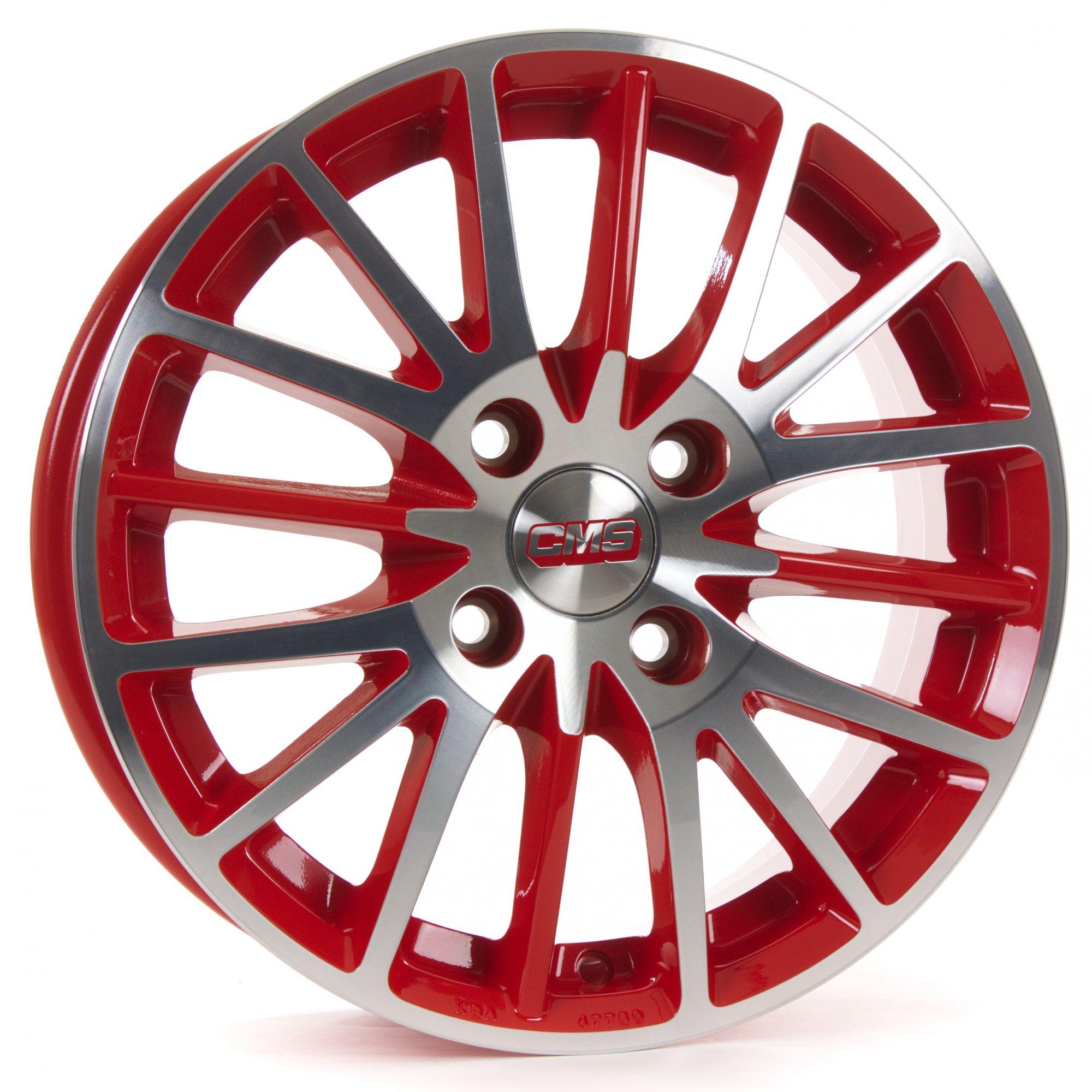 cms c17 felgen diamond red gloss silber rot mehrfarbig. Black Bedroom Furniture Sets. Home Design Ideas