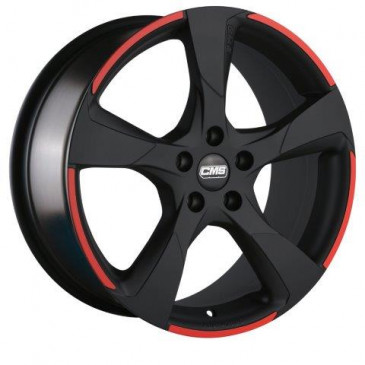 CMS C18 Matt Black Red