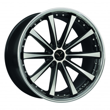 Corspeed Arrows Highgloss black polished inox lip