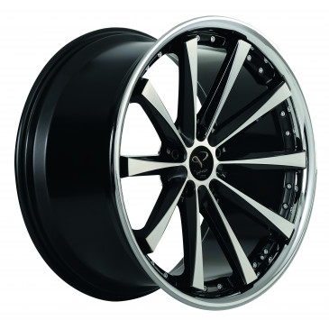 Corspeed Arrows+Trackspacer Highgloss black polished inox lip