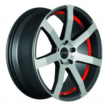 Corspeed Challenge Highgloss Gunmetal polished / undercut Color Trim rot