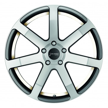 Corspeed Challenge Highgloss Gunmetal polished / undercut Color Trim weiss