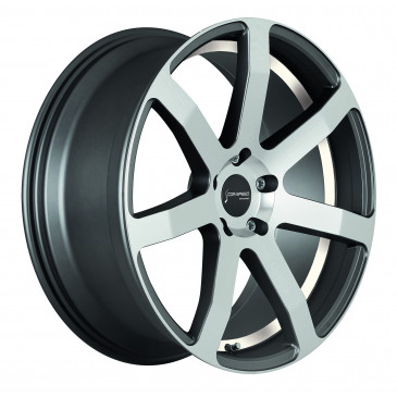 Corspeed Challenge+Trackspacer Highgloss Gunmetal polished / undercut Color Trim weiss