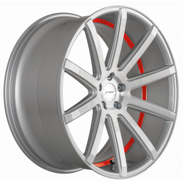 Corspeed Deville Silver-brushed-Surface/ undercut Color Trim rot
