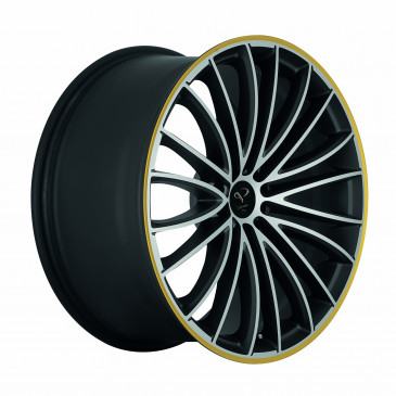 Corspeed Le Mans Mattblack-polished / Color Trim gelb
