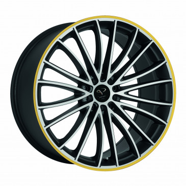 Corspeed Le Mans+Trackspacer Mattblack-polished / Color Trim gelb