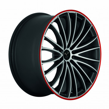 Corspeed Le mans+Trackspacer Mattblack-polished / Color Trim rot