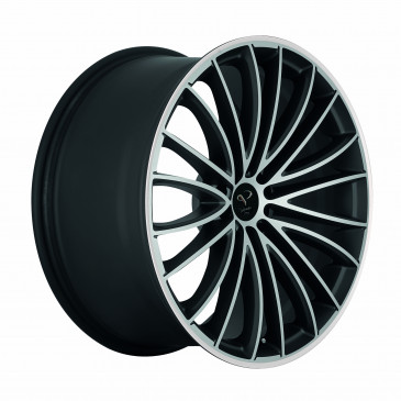 Corspeed Le Mans+Trackspacer Mattblack-polished / Color Trim weiss