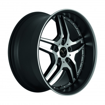 Corspeed Vegas Highgloss black polished inox lip