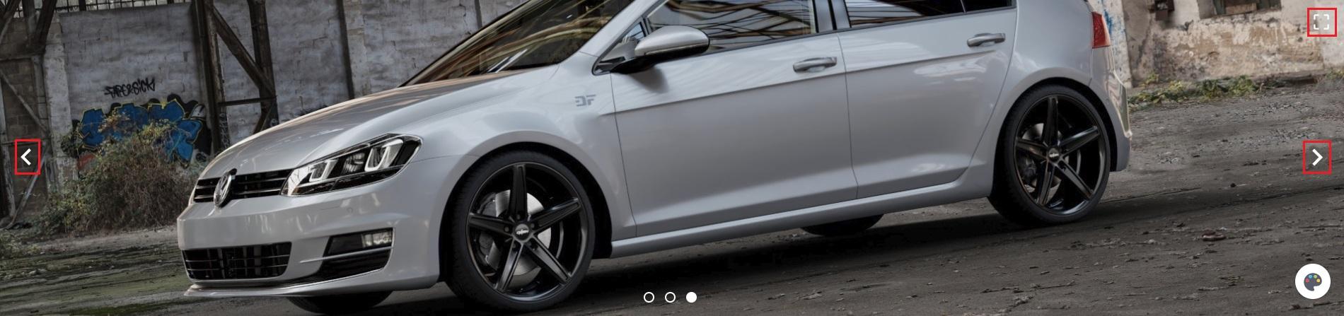 3D Felgenkonfigurator Felgen am Auto in verschiedenen Perspektiven anschauen