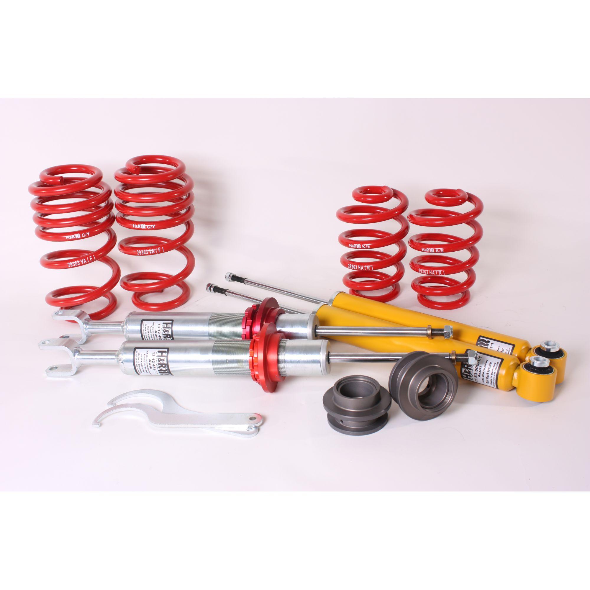 Transparent Hose /& Stainless Red Banjos Pro Braking PBK9782-CLR-RED Front//Rear Braided Brake Line