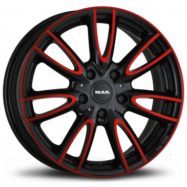 MAK Jackie Anodized red black