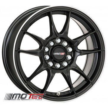 MOTEC MCR1 flat black polished