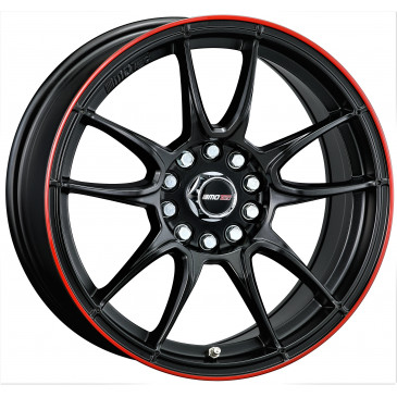 MOTEC MCR1 flat black w. red ring