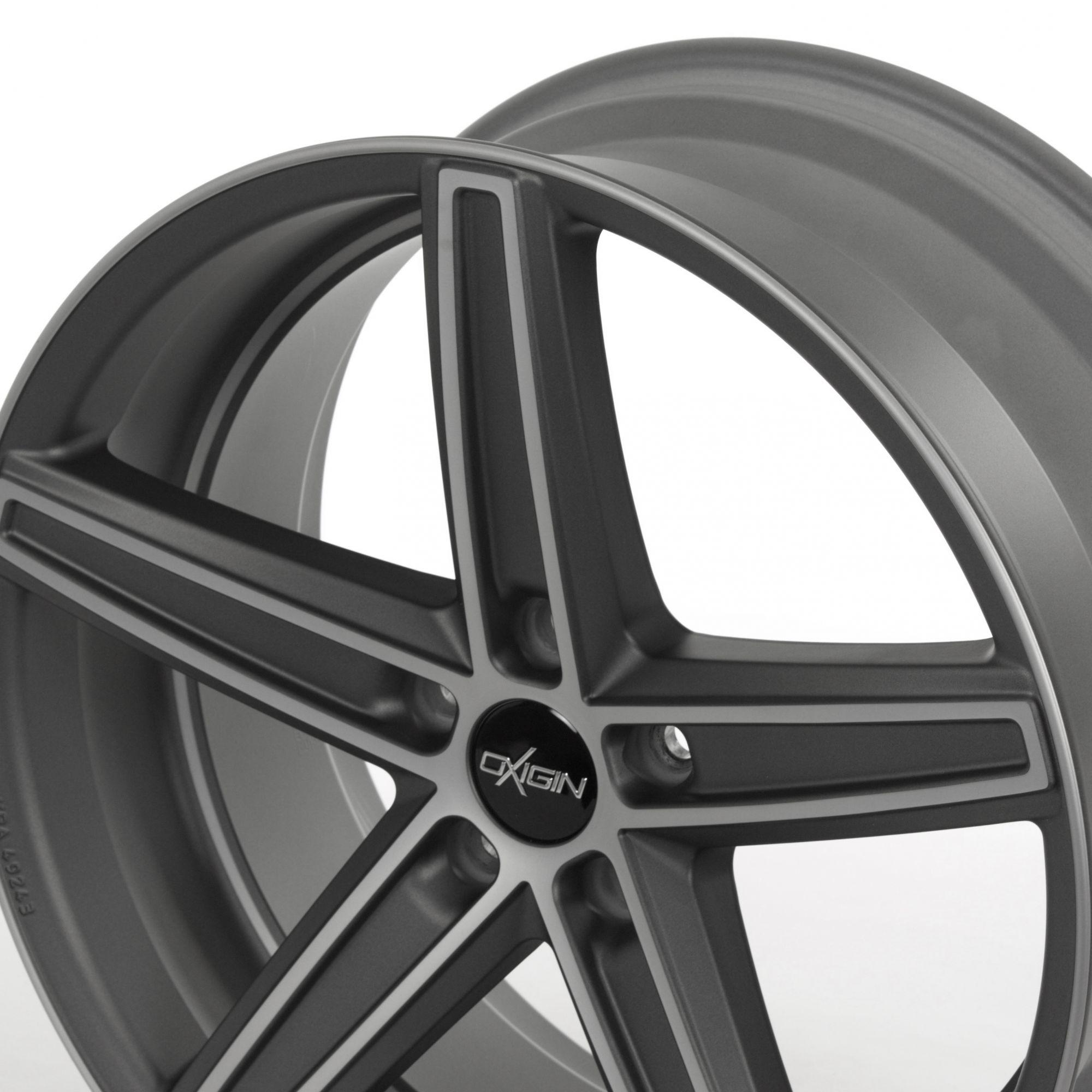oxigin 18 concave felgen graphit full polish matt in 19. Black Bedroom Furniture Sets. Home Design Ideas