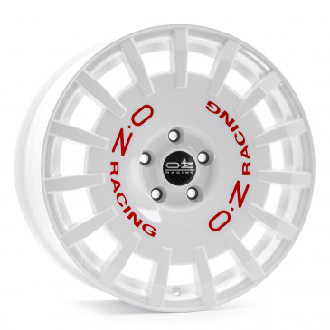 OZ RACING RALLY WHITE + RED LET.
