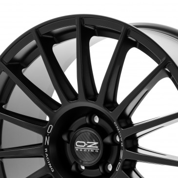 OZ RACING SUPERTURISMO DAKAR MATT BLACK+SILVER LETTERING