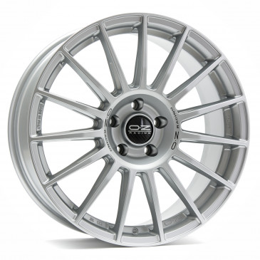 OZ RACING SUPERTURISMO DAKAR MATT RACE SILVER + BLACK LETTERING