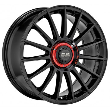 OZ RACING SUPERTURISMO EVOLUZIONE GLOSS BLACK+RED LET.