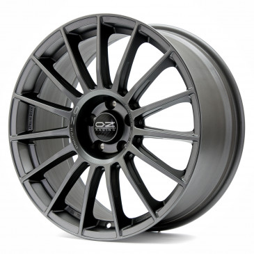 OZ RACING SUPERTURISMO LM MATT GRAPHITE + SILVER LETTERING