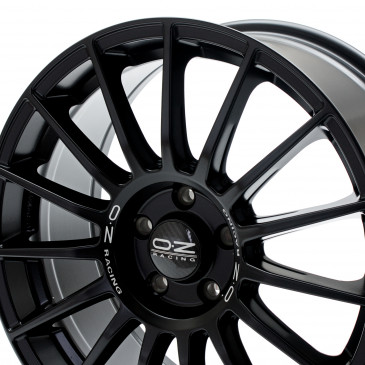 OZ RACING SUPERTURISMO LM MATT BLACK+SILVER LETTERING