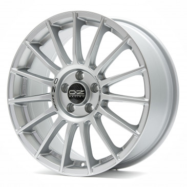 OZ RACING SUPERTURISMO LM MATT RACE SILVER + BLACK LETTERING