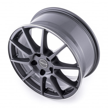 ProLine Wheels UX100 Grey Rim Polished