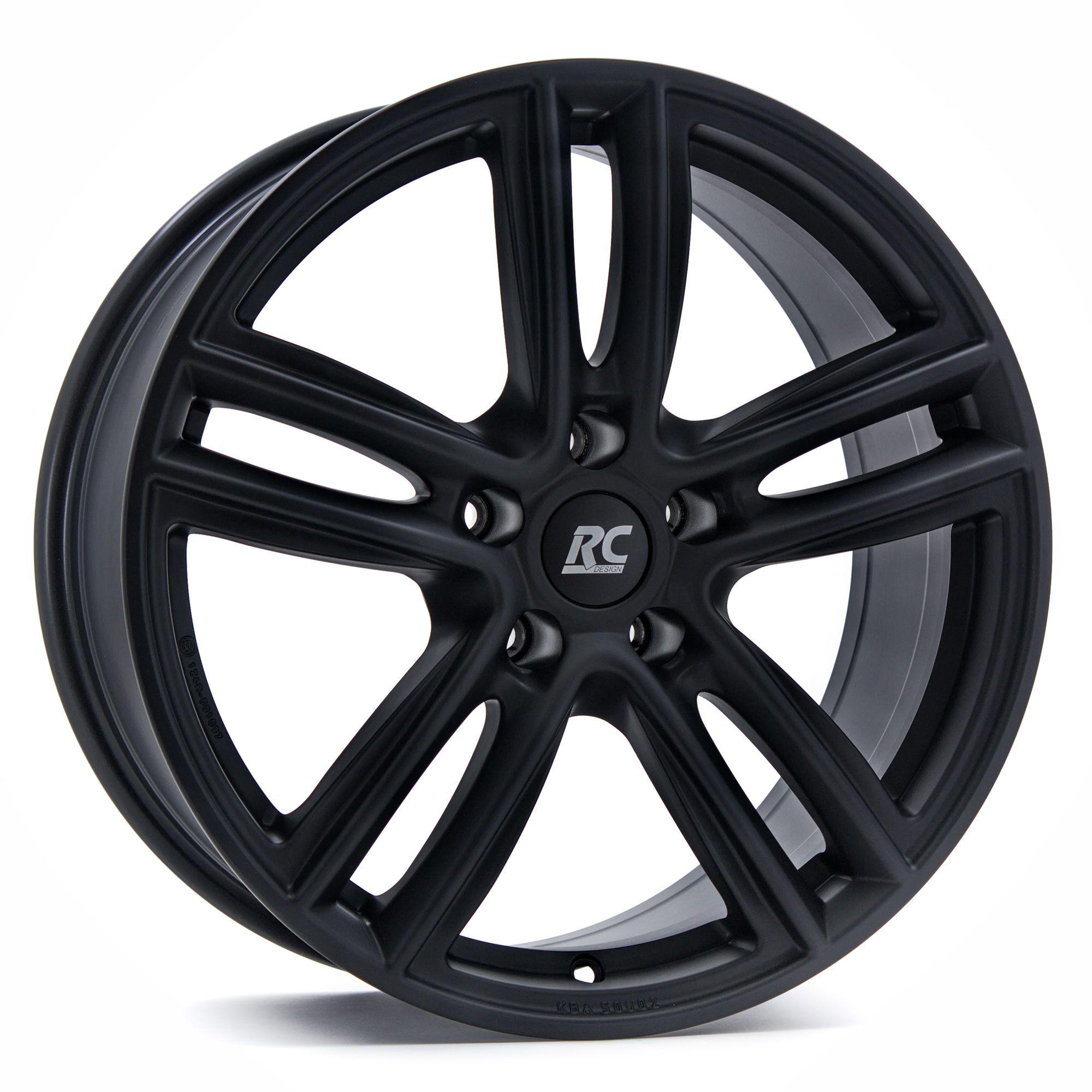 rc design rc27 felgen schwarz matt lackiert in 16 zoll. Black Bedroom Furniture Sets. Home Design Ideas