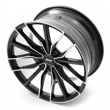 RFK Wheels GLS301 metallic black machined face