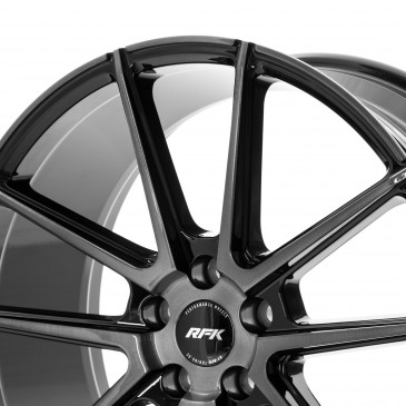 RFK Wheels GLS302 GLOSS BLACK BRUSHED FACE