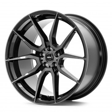 RFK Wheels GLS303 GLOSS BLACK BRUSHED FACE