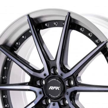 RFK Wheels PLS201 BLACK BLUE BRUSHED RIM