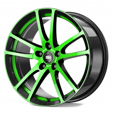 RH ALURAD BO Flowforming color polished - green