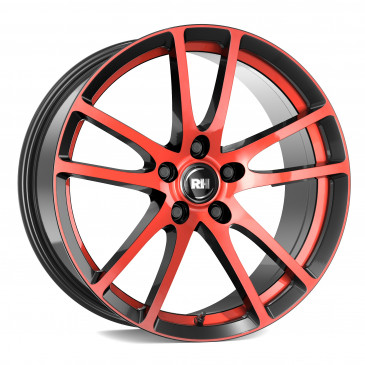RH ALURAD BO Flowforming color polished - red